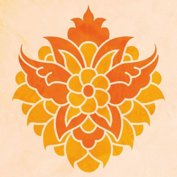Wandschablone Blumenstrauß floral