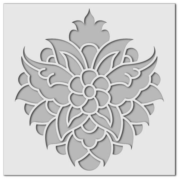 Wandschablone Blumenstrauß