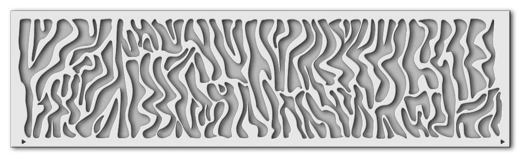 Wandschablone Zebra