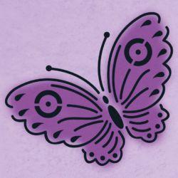 Wandschablone Pfauenauge Insekten