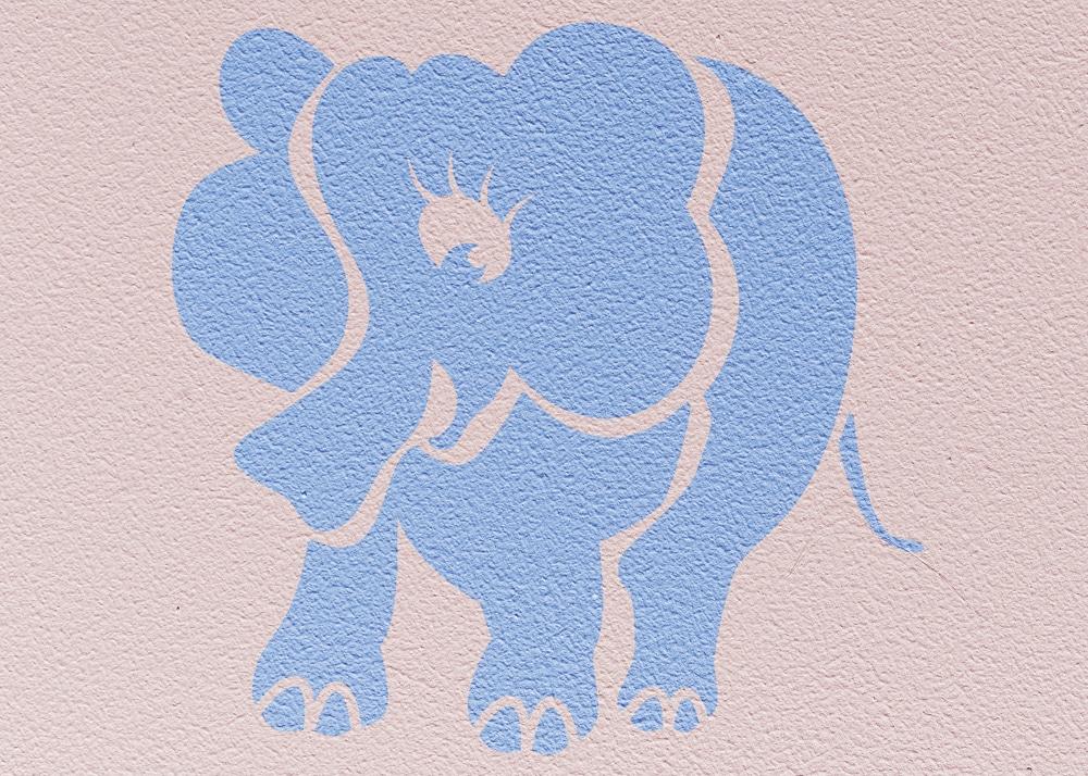 Wandschablone Babyelefant Kinderzimmer