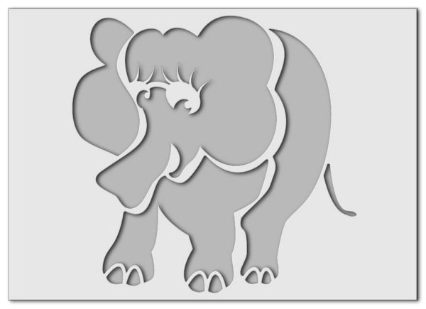 Wandschablone Babyelefant