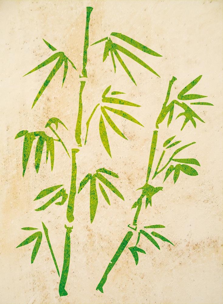 Wandschablone Bambus 3 floral