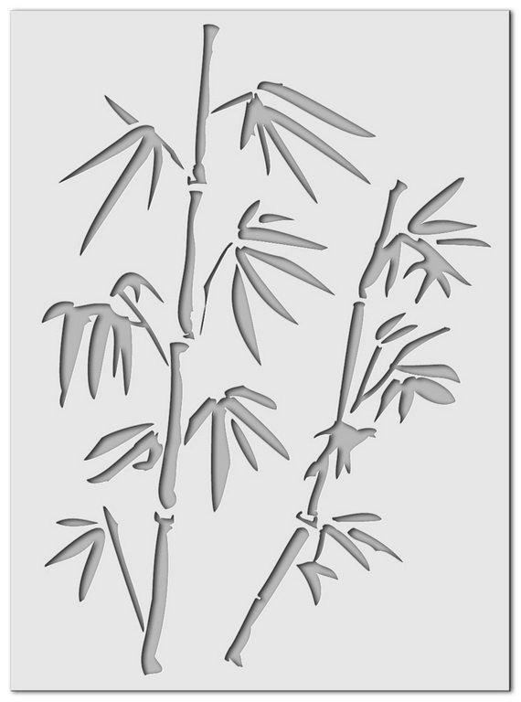 Wandschablone Bambus 3