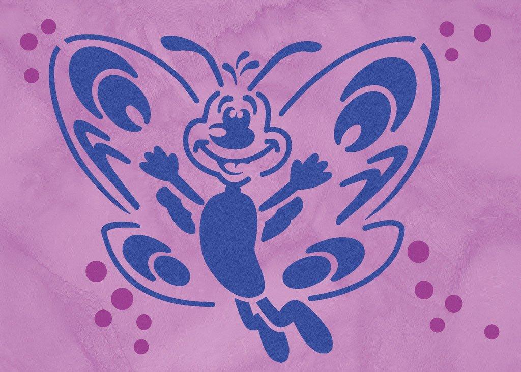 Wandschablonen schmetterling farfalla schablono for Wandschablone kinderzimmer