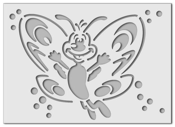 Wandschablone Schmetterling Farfalla