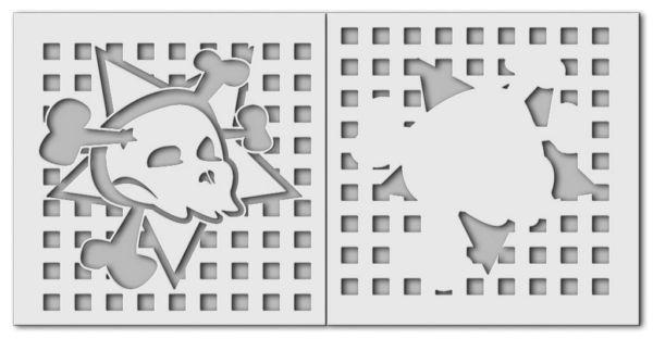 Wandschablone Skull Totenkopf