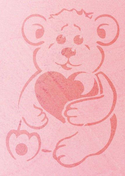 Wandschablone Teddy Kinderzimmer