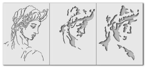"""Wandschablone Michelangelo """"Idealgesicht"""""""