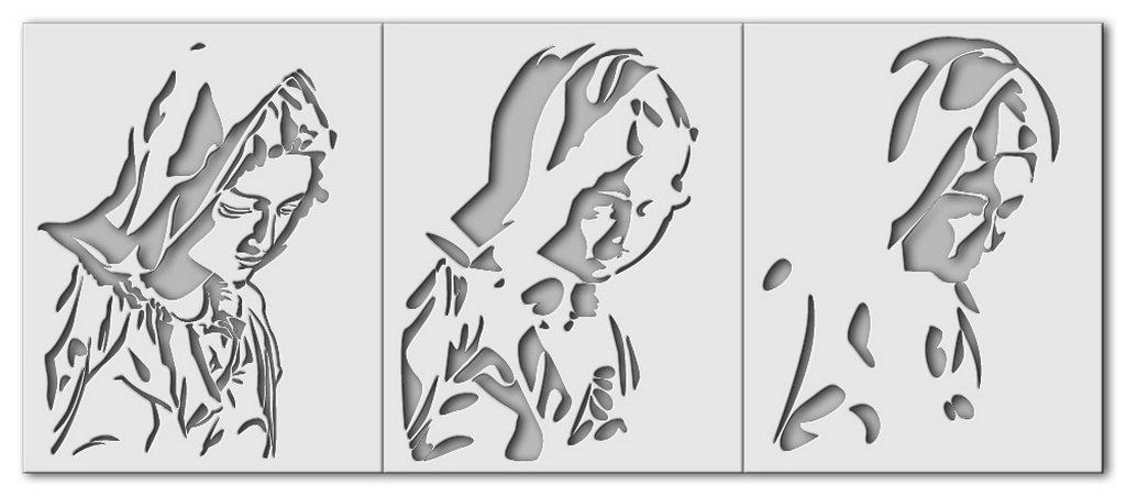 """Wandschablone Michelangelo """"Trauernde Maria"""""""