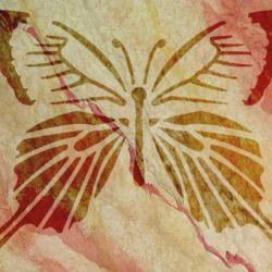 Wandschablone Butterfly 1 Insekten