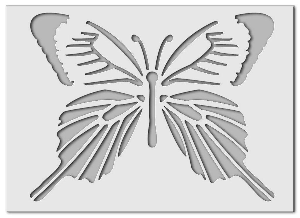 Wandschablone Butterfly 1