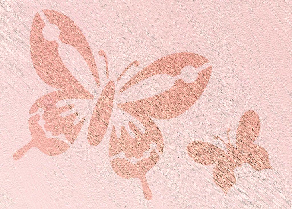 Wandschablone Butterfly 3 Insekten