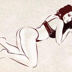 Wandschablone Bedtime Erotik