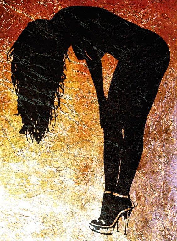 Wandschablone Scherenschnitt Erotik
