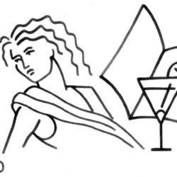 cocktail wandschablone