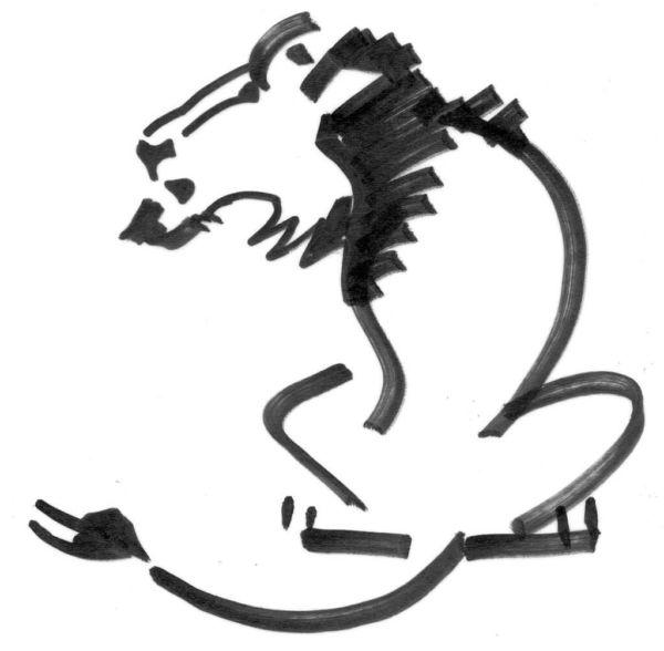 Wandschablone Löwe, Tiere