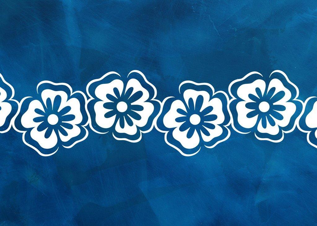 Blumen Schablone