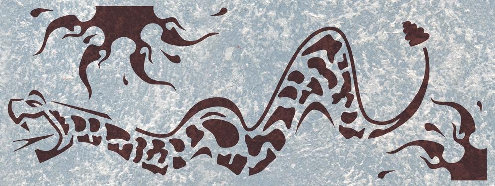 schablone klapperschlange