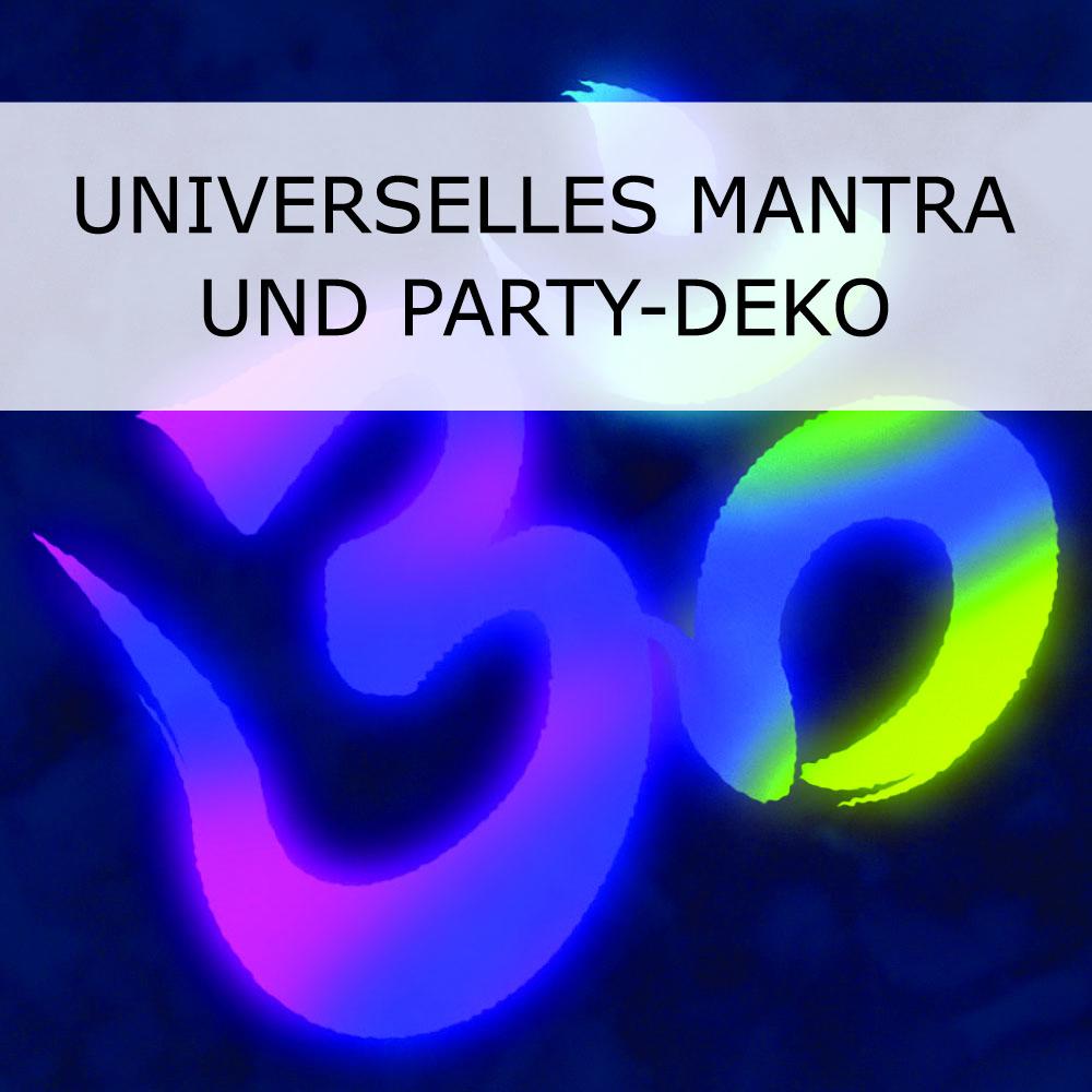 Universelles Mantra und Party-Deko das Goa-Zeichen
