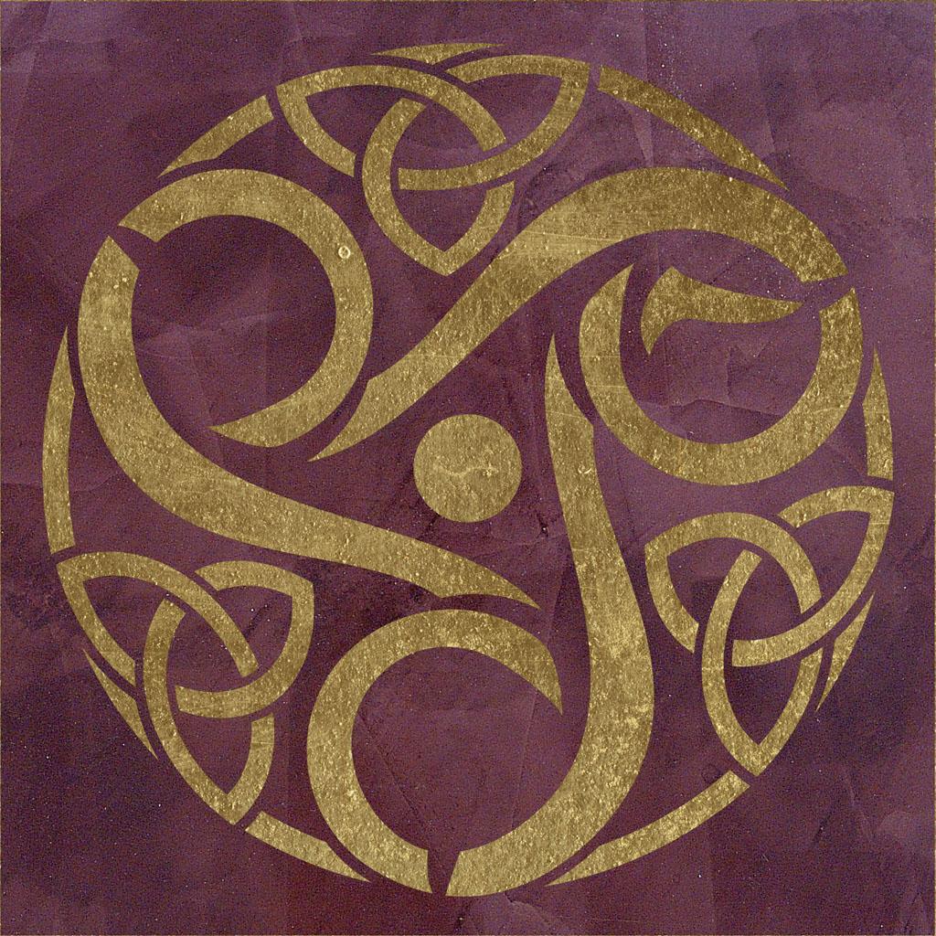 triskele 2 wandschablone mystik