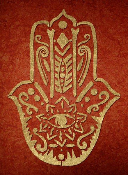 fatima hand wandschablone