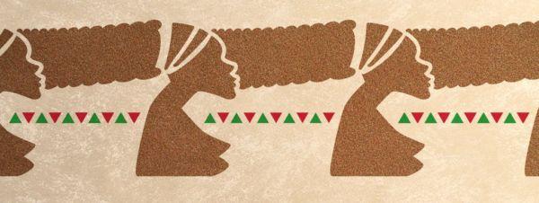 Afrika-Wandschablone