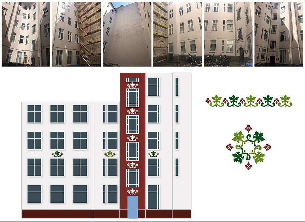 Fassadengestaltung Innenhof