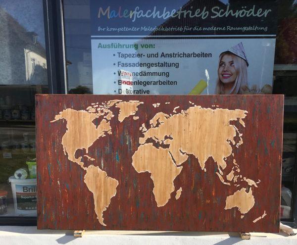 Die Weltkarte als Schablone