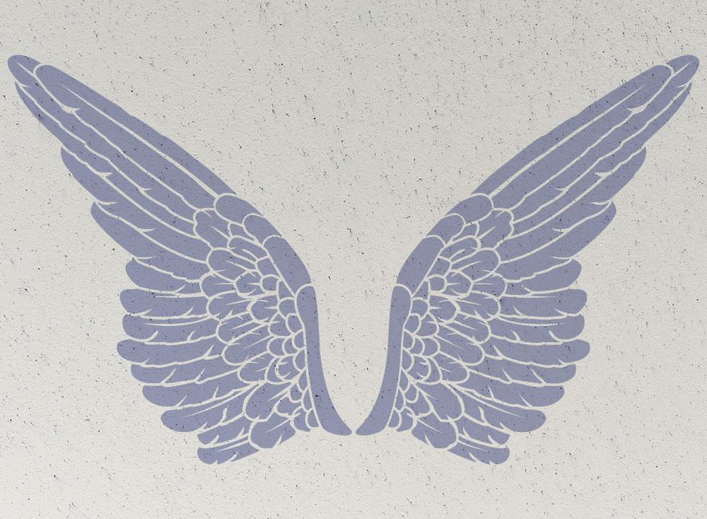 Stencil wings